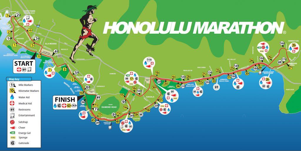ホノルルマラソンのコース
