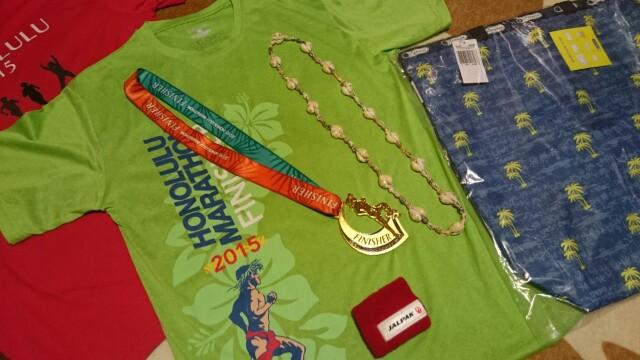 ホノルルマラソン2016 完走記念品