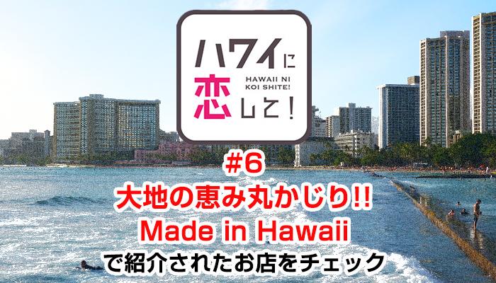 ハワイに恋して!「#6 大地の恵み丸かじり!! Made in Hawaii」で紹介されたお店と情報をチェック